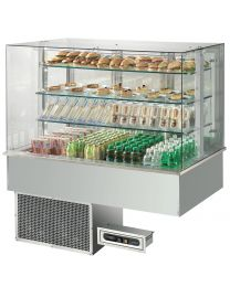Afinox Soul Drop In Open Front Blown Air 3 Tier Refrigerated Counter Top Unit