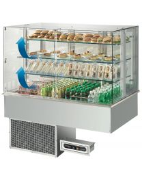Afinox Soul Drop In Self Service flaps Blown Air 3 Tier Refrigerated Counter Top Unit