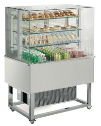 Afinox Essense RAL Special Open Front 3 Tier Refrigerated Food Island