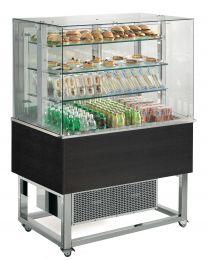 Afinox Essense Wenge Open Front 3 Tier Refrigerated Food Island