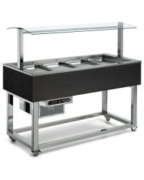 Afinox Essense Wenge Buffet Refrigerated Food Islands with static cold well.