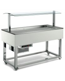 Afinox Essense Ral Special Buffet Static shallow well Refrigerated Food Island