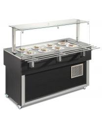 Afinox Tradition Wenge  Buffet Static shallow well Refrigerated Food Island