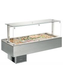 Afinox Soul 3/1 Gastronorm Drop In Static Refrigerated Counter Top Unit