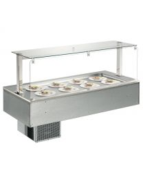 Afinox Soul 3/1 Shallow Well Drop In Static Refrigerated Counter Top Unit