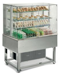 Afinox Essense Stainless  Open Front 3 Tier Refrigerated Food Island
