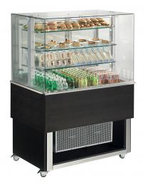 Afinox Tradition Wenge Open Front 3 Tier Refrigerated Food Island
