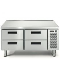 Eco Linear 4 Drawer Cooking Top Refrigeration - Recessed Top