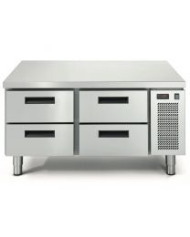 Eco Linear 4 Drawer Cooking Top Refrigeration - 40mm Stainless Top