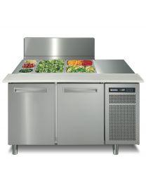 Afinox 2 Door Refrigerated saladette counter lid top