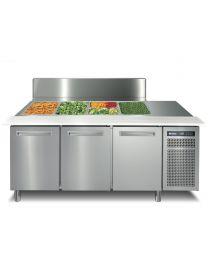 Afinox 3 Door Refrigerated saladette counter lid top