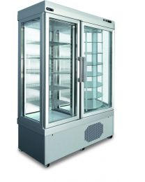 Afinox Rotating Refrigerated Ventilated display cabinets for cakes and pastry.