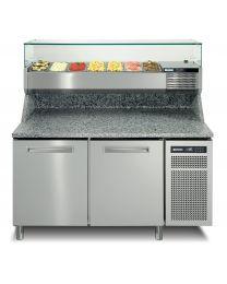 Afinox Spring 2 Door Refrigerated Pizza Preparation Counter